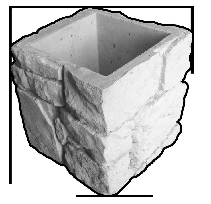Блок для опорной колонны «Камень-валун»