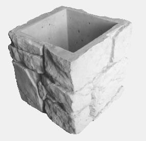 Блок «Камень-валун» для столба и опорной колонны