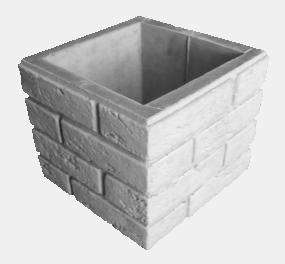 Блок «Кирпич-рустик» для столба и опорной колонны