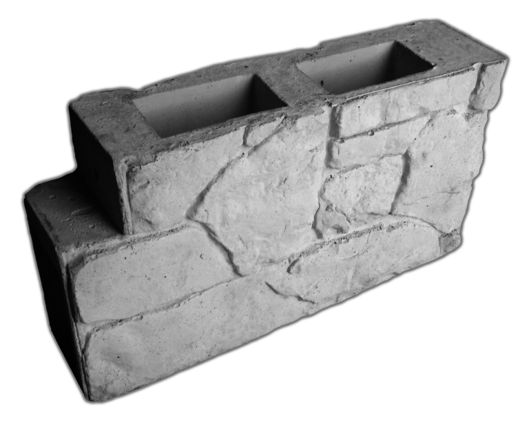 Блок межстолбовой перегородки «Камень-валун»