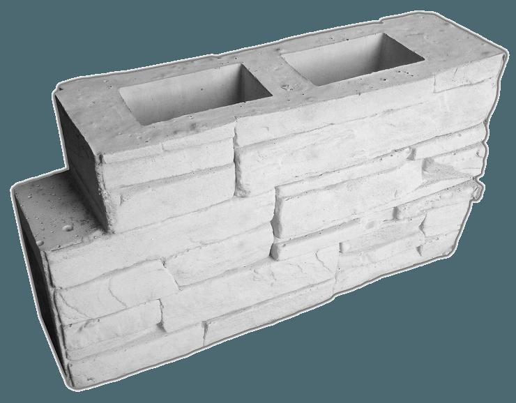 Блок межстолбовой перегородки «Скальная гряда»