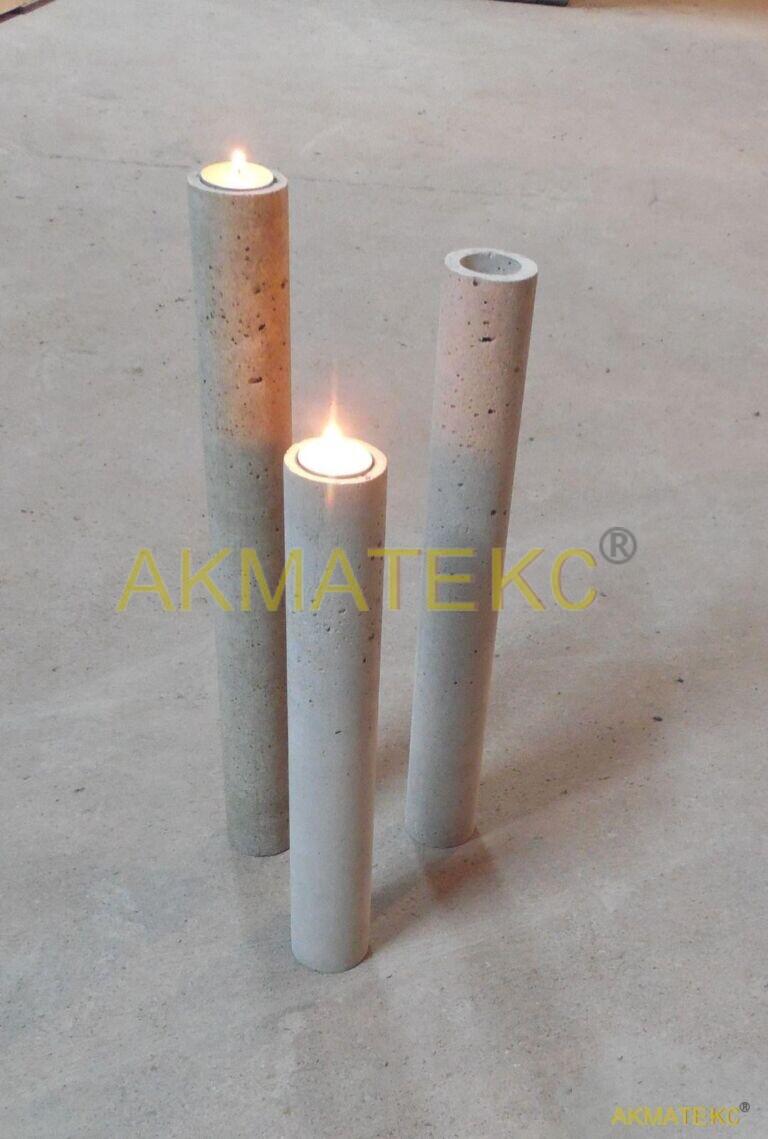 бетонный подсвечник